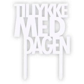 Felius Design - TILLYKKE MED DAGEN 9,1X6,4 CM | HVID