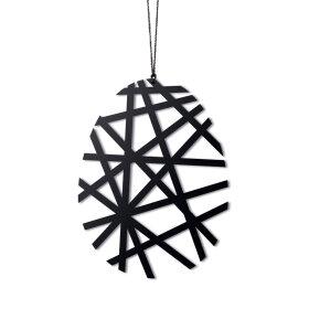 Felius Design - PÅSKEÆG STREGER 2 STK. 7,5X5,6 CM | SORT