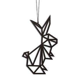 Felius Design - KANINER TREKANT 2 STK. 8,4X4,6 CM | SORT