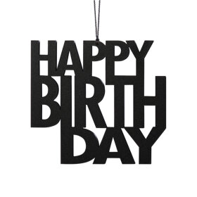 Felius Design - HAPPY BIRTHDAY 9,1X6,4 CM | SORT