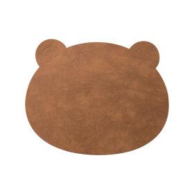 LindDNA - BEAR TABLE MAT NUPO 38X30 | BRUN