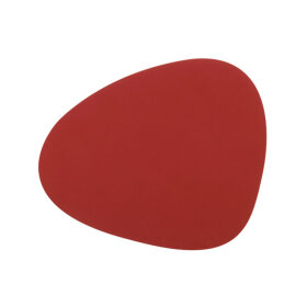 LindDNA - TABLEMAT CURVE LARGE NUPO 37X44 CM | RED