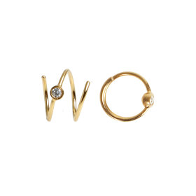 Stine A - BIG DOT CURL EARRING LEFT 1PC   FORGYLDT