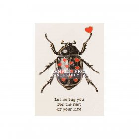 Vanilla Fly - GREETING CARD | LET ME BUG YOU FOR THE REST OF YOUR LIFE
