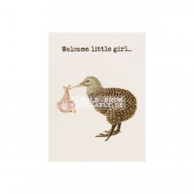 Vanilla Fly - GREETING CARD | WELCOME LITTLE GIRL