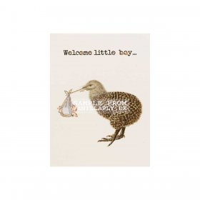 Vanilla Fly - GREETING CARD | WELCOME LITTLE BOY