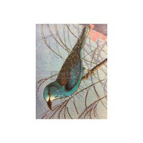 Vanilla Fly - Greeting card, BLUE BIRD