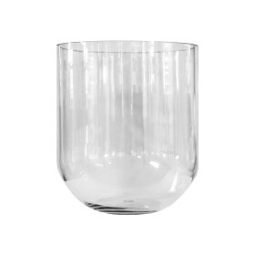 DBKD - SIMPLE GLASS VASE LARGE D19XH22 CM | CLEAR