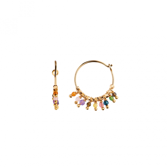Petit Rainbow Hoop With Stones 1pc | Forgyldt Fra Stine A