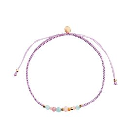 Stine A - CANDY BRACELET – SOFT SORBET MIX AND DUSTY ROSE RIBBON