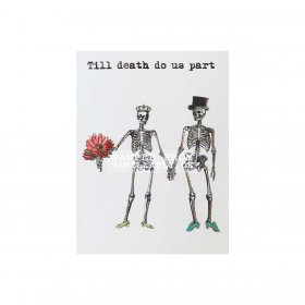 Vanilla Fly - Greeting card, TILL DEATH DO US PART