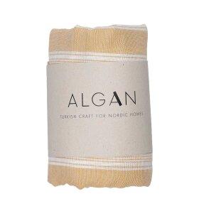 Algan - Sade hamamhåndklæde 100x180 cm, SENNEP