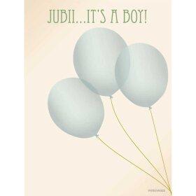 VISSEVASSE - ANLEDNINGSKORT A6 | JUBII IT'S A BOY