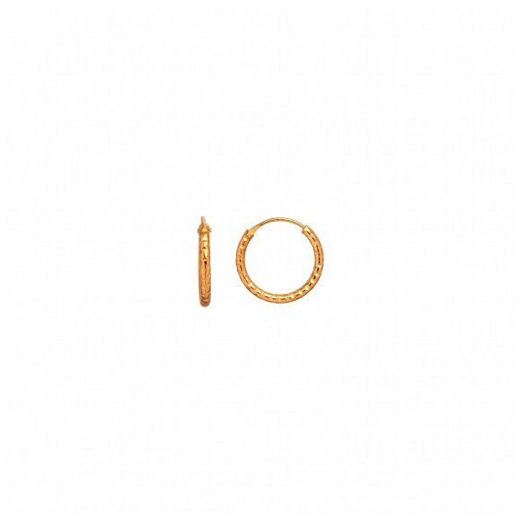 Petit Tinsel Creol Earring 1pc | Forgyldt Fra Stine A