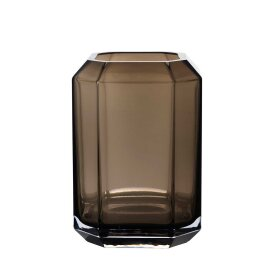 LOUISE ROE - JEWEL VASE H20 CM | SMOKE