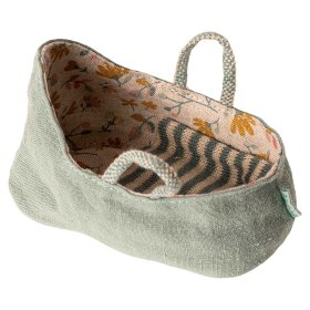 MAILEG - CARRY COT MY | DUSTY GREEN/MINT