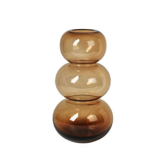 Broste Copenhagen - BUBBLE VASE H33,5 CM | INDIAN TAN