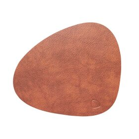 LindDNA - TABLE MAT CURVE LARGE BULL 37X44 CM | COGNAC