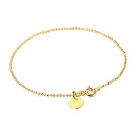 Enamel Copenhagen - BRACELET BALL CHAIN, FORGYLDT M/LIGHT YELLOW