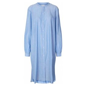 Lollys Laundry - BASIC SHIRT DRESS | DUSTY BLUE