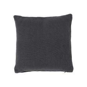 Dixie - PET PLAIN CUSHION 50X50CM | MØRKEGRÅ