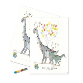 MOUSE & PEN - FINGERPRINT PLAKAT 30X42 CM | DINO PARTY