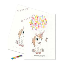 MOUSE & PEN - FINGERPRINT PLAKAT 30X42 CM | UNICORN