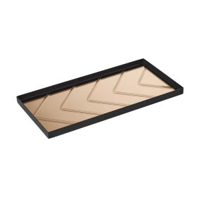 SPECKTRUM - THE HERRINGBONE TRAY 40X20 CM | BRONZE
