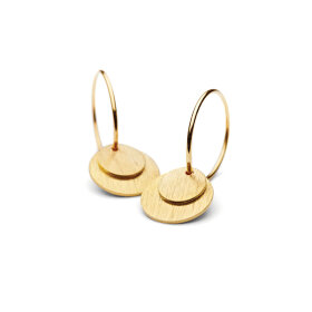 PERNILLE CORYDON - SMALL COIN EARRING | FORGYLDT