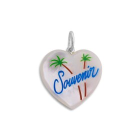 JANE KØNIG - SOUVENIR HEART WITH ENAMEL | SØLV