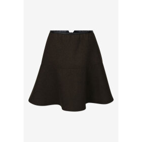 SIX Ames - SARAH SKIRT | GREEN MELANGE