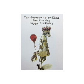 VANILLA FLY - GREETING CARD | KING FOR THE DAY 140