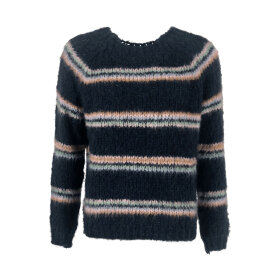 Black Colour - TILDE KNITTED SWEATER | NAVY