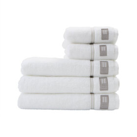 LEXINGTON - HOTEL TOWEL 50X70 CM | WHITE/BEIGE