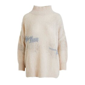 RABENS SALONER - GABI GOLD PATCHWORK SWEATER | VANILLA