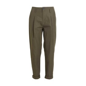 RABENS SALONER - RAINA PERFORMANCE PLEAT PANT | DARK GREEN
