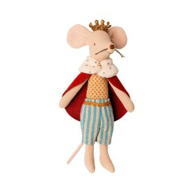 MAILEG - KING MOUSE 15 CM
