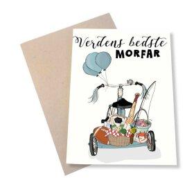 MOUSE & PEN - A6 KORT 11,5X16 CM | VERDENS BEDSTE MORFAR