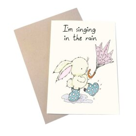 MOUSE & PEN - A6 KORT 11,5X16 CM | SINGING IN THE RAIN
