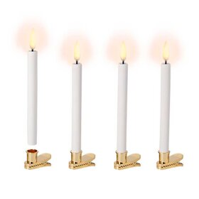 UYUNI - LED MINI TAPER CANDLE 4 PACK | HVID