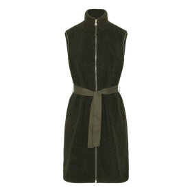 Continue Copenhagen - TEDDY LONG VEST | ARMY