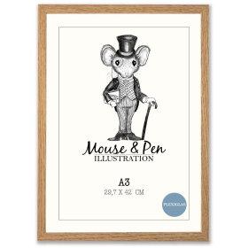 MOUSE & PEN - RAMME M/GLAS 50X70 CM   EG