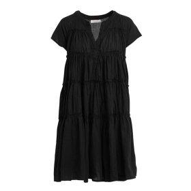 RABENS SALONER - JYTTE COTTON FLARE SHORT DRESS   SORT