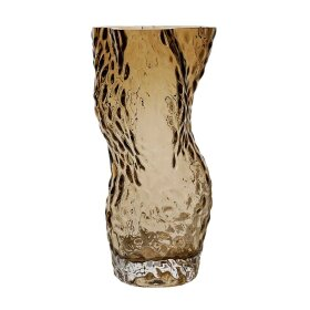 HEIN STUDIO - OSTREA ROCK GLASS VASE 30 CM | SMOKE
