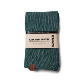 HUMDAKIN - KNITTED KITCHEN TOWEL | GREEN SEAWEED