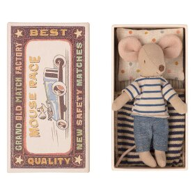MAILEG - BIG BROTHER MOUSE IN MATCHBOX - 13 CM