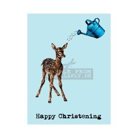 VANILLA FLY - GREETING CARD | HAPPPY CHRISTENING