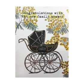 VANILLA FLY - A5 GREETING CARD | CONGRATULATIONS WITH THE NEW FAMILY MEMBER