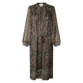 SECOND FEMALE - ERNA DRESS   BURNT OLIVE