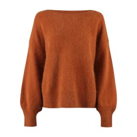 SIX Ames - MALOU SWEATER   GOLDEN BROWN